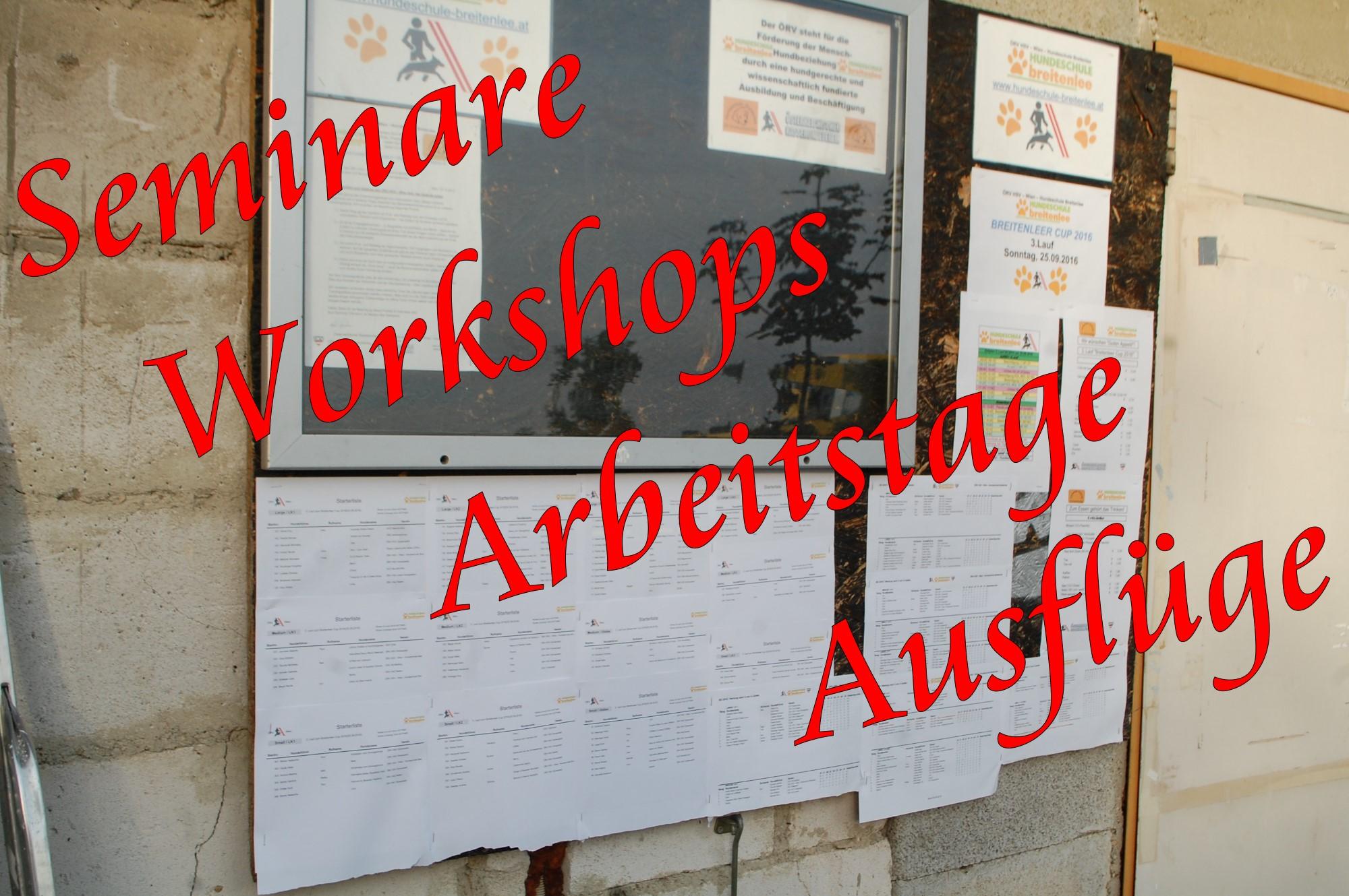 Seminare – Workshops – Arbeitstage